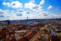 Vista aérea de Praga imagen de archivo libre de regalías