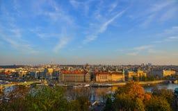 Vista aérea de Praga, Czechia fotografía de archivo libre de regalías