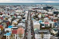 Vista aérea de Reykjavik Fotografía de archivo libre de regalías