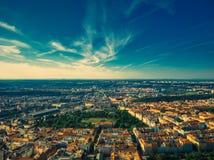 Vista aérea de Riegrovy sady fotos de stock