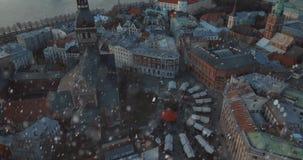 Vista aérea de Riga, Letónia video estoque