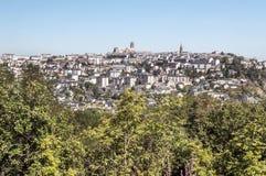 Vista aérea de Rodez Imagen de archivo libre de regalías