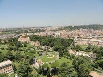 Vista aérea de Roma, Italy Tomado de Cidade Estado do Vaticano Fotografia de Stock