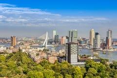 Vista aérea de Rotterdam imagens de stock royalty free