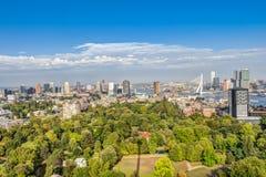 Vista aérea de Rotterdam fotografia de stock