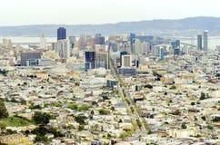 Vista aérea de San Francisco céntrico Imágenes de archivo libres de regalías