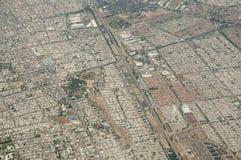 Vista aérea de Santiago - Chile Fotografía de archivo libre de regalías