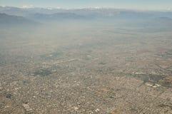 Vista aérea de Santiago - Chile Imagen de archivo