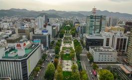 Vista aérea de Sapporo, Japón Fotografía de archivo libre de regalías