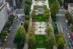Vista aérea de Sapporo, Japón Fotos de archivo