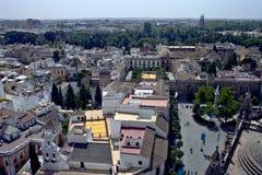 Vista aérea de Sevilla Imágenes de archivo libres de regalías