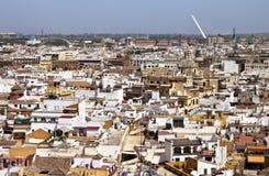 Vista aérea de Sevilla Imagen de archivo libre de regalías