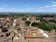 Vista aérea de Siena, Italia Imagen de archivo libre de regalías