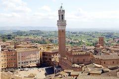 Vista aérea de Siena, Toscânia, Itália Fotos de Stock