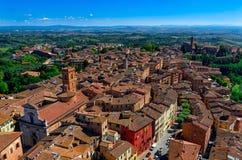 Vista aérea de Siena, Toscana imágenes de archivo libres de regalías