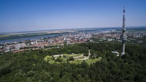Vista aérea de Silistra, Bulgaria imagen de archivo
