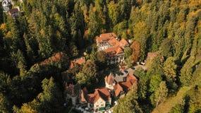 Vista aérea de Sinaia foto de archivo libre de regalías