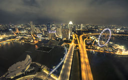 Vista aérea de Singapur Foto de archivo libre de regalías