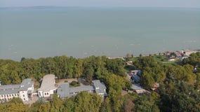 Vista aérea de Siofok imagenes de archivo