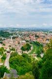 Vista aérea de Spoleto, Itália fotografia de stock royalty free