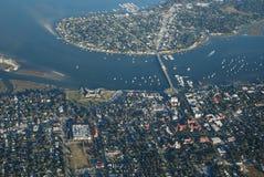 Vista aérea de St Augustine, FL Imagem de Stock