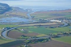 Vista aérea de Stanwood Washington Imagenes de archivo