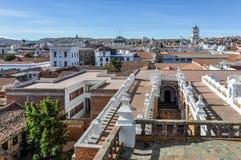 Vista aérea de Sucre, Bolivia Foto de archivo
