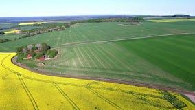 Vista aérea de Suecia del sur almacen de metraje de vídeo