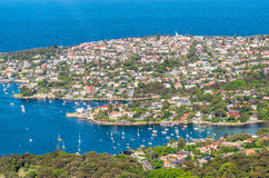Vista aérea de Sydney Coastline - Novo Gales do Sul, Austrália fotografia de stock