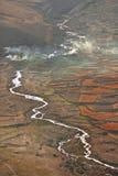 Vista aérea de Tíbet Imágenes de archivo libres de regalías