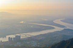 Vista aérea de Taipei imágenes de archivo libres de regalías