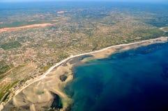 Vista aérea de Tanzânia imagens de stock
