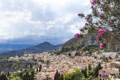 Vista aérea de Taormina, Sicília, Itália Imagem de Stock Royalty Free