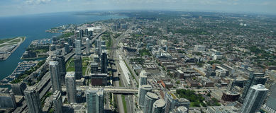 Vista aérea de Toronto Canadá Foto de archivo