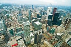 Vista aérea de Toronto do centro Foto de Stock Royalty Free
