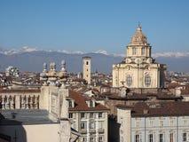 Vista aérea de Turin fotografia de stock