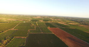 Vista aérea de um campo francês video estoque