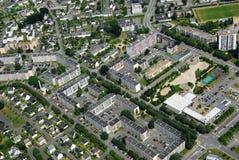 Vista aérea de um distrito da cidade de Vannes em Brittany foto de stock