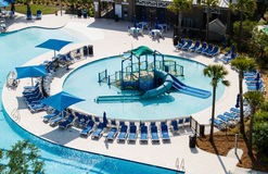 Vista aérea de um parque da piscina. Imagens de Stock Royalty Free