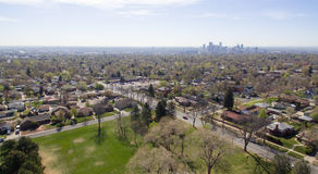 Vista aérea de um parque em Denver Colorado Fotos de Stock Royalty Free