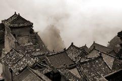 Vista aérea de um templo do wudang Foto de Stock Royalty Free
