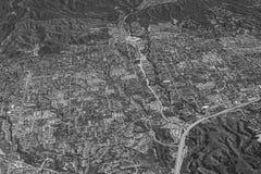 Vista aérea de uma cidade Fotografia de Stock Royalty Free