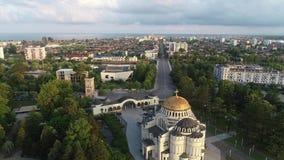 Vista aérea de uma da cidade Poti da costa do Mar Negro, Geórgia filme