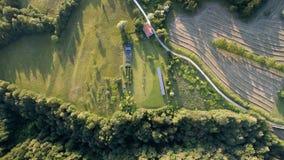 Vista aérea de uma exploração agrícola Fotos de Stock Royalty Free