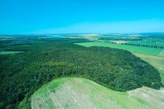 Vista aérea de uma floresta romena foto de stock royalty free