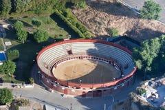 Vista aérea de uma praça de touros Fotografia de Stock