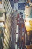 Vista aérea de uma rua aglomerada em New York Fotografia de Stock Royalty Free