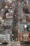 Vista aérea de uma rua em Charlestown Imagens de Stock Royalty Free