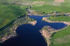 Vista aérea de uma terra Imagens de Stock Royalty Free