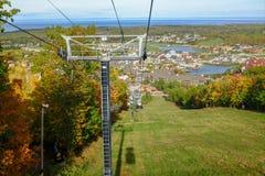 Vista aérea de uma vila maravilhosa imagem de stock